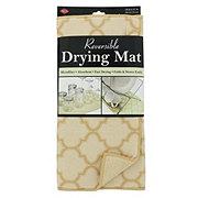 John Ritzenthaler Reversible Drying Mat Latte Trellis