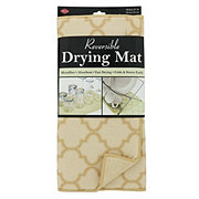 John Ritzenthaler Reversible Drying Mat Latte Trellis 14x21 in