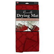 John Ritzenthaler Reversible Drying Mat Paprika Trellis