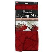 John Ritzenthaler Reversible Drying Mat Paprika Trellis 14x21 in