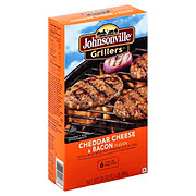 Johnsonville Grillers Cheddar Cheese & Bacon Patties