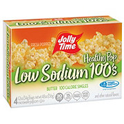 Jolly Time Microwaveable Low Sodium 100 Calorie Buttered Popcorn