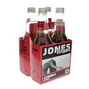 Jones Stripped Cherry Soda 12 oz Bottles