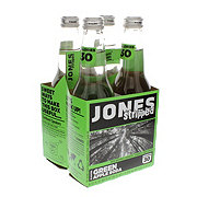Jones Stripped Green Apple Soda, 4 PK Bottles