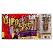 JR Dippers Cheese Dip & Pretzels