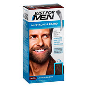 Just For Men Mustache & Beard Medium Brown M-35 Brush-In Color Gel