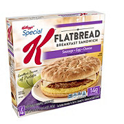Kellogg's Special K Flatbread Breakfast Sandwich with Sausage, Egg and Cheese