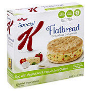 Kellogg's Special K Flatbread Egg Breakfast Sandwich with Vegetables and Pepper Jack Cheese