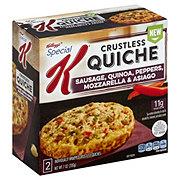 Kellogg's Special K Sausage Quinoa Peppers Mozzarella & Asiago Crustless Quiches
