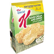 Kellogg's Special K Sour Cream and Onion Cracker Chips Baked Snacks