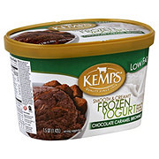 Kemps Smooth & Creamy Chocolate Caramel Brownie Low Fat Frozen Yogurt