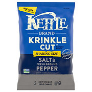 Kettle Krinkle Cut Salt & Fresh Ground Pepper Potato Chips Party Size