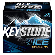 Keystone Ice Beer 30 PK Cans