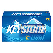 Keystone Light Beer 18 PK Cans