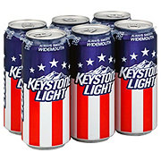 Keystone Light Beer 6 PK Cans
