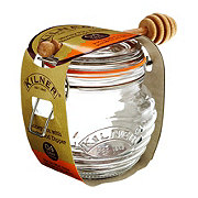 Kilner Clip Top Round Honey Pot with Beachwood Dipper