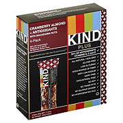 Kind Plus Cranberry Almond + Antioxidants Bars