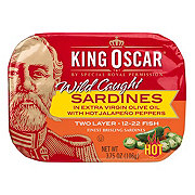 King Oscar Sardines in Olive Oil with Hot Jalapeno Peppers