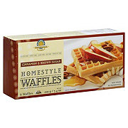 Kinnikinnick Foods Homestyle Cinnamon & Brown Sugar Waffles