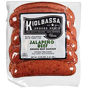 Kiolbassa Jalapeno Beef Smoked Sausage Links Small Pack