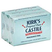Kirk's Fragrance Free Coco Castile Soap Bars 3 PK