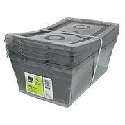 Kis Omni Box 6.5 Qt Shoe Box with Lid, Cool Gray