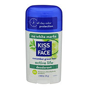 Kiss My Face Active Life Stick Deodorant - Cucumber Green Tea