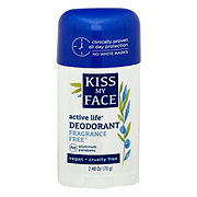 Kiss My Face Active Life Stick Deodorant - Fragrance Free