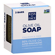 Kiss My Face Pure Olive Oil Bar Soap 3 PK