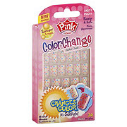 Kiss Pink Color Change Longer Length Belle Sticker Nails
