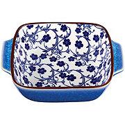 Kitchen & Table Blue Floral Square Baker