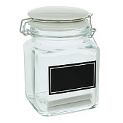 Kitchen & Table Chalkboard Glass Canister Small