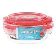 Kitchen & Table Coral Borosilicate Glass Round Storage Container
