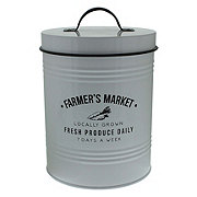 Kitchen & Table Farmers market Black & White Metal Canister