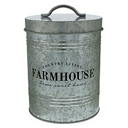 Kitchen & Table Farmhouse Galvanized Metal Canister