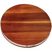 Kitchen & Table Galvanized Acacia Round Cutting Board