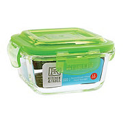 Kitchen & Table Green Borosilicate Glass Square Storage Container