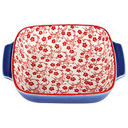 Kitchen & Table Red FloralSquare Baker
