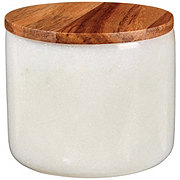 Kitchen & Table White Marble Salt Cellar