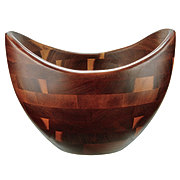 Kitchen and Table Acacia Curved Salad Bowl
