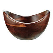 Kitchen and Table Acacia Small Curved Salad Bowl