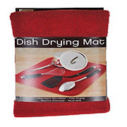 Kitchen Basics Dish Drying Mat - Red 16x18 in