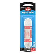 Kiwi Kids Sport Flat Laces, White, 27 in