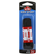 Kiwi Kids Sport Oval Laces, Black, 36 in