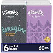 Kleenex On-The-Go Facial Tissue Pocket Pack
