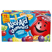 Kool-Aid Jammers Tropical Punch Flavored Drink 6 oz Pouches