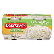 Kozy Shack Simply Well No Sugar Added Rice Pudding Snack Cups