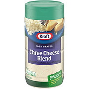 Kraft 100% Three Cheese Blend Grated Cheese