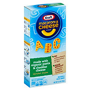 Kraft Alphabet Shapes Macaroni and Cheese with Organic Pasta and Cheddar Cheese