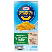 Kraft Macaroni and Cheese with Organic Pasta and Cheddar Cheese